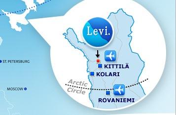 Карта зимних курортов Финляндии