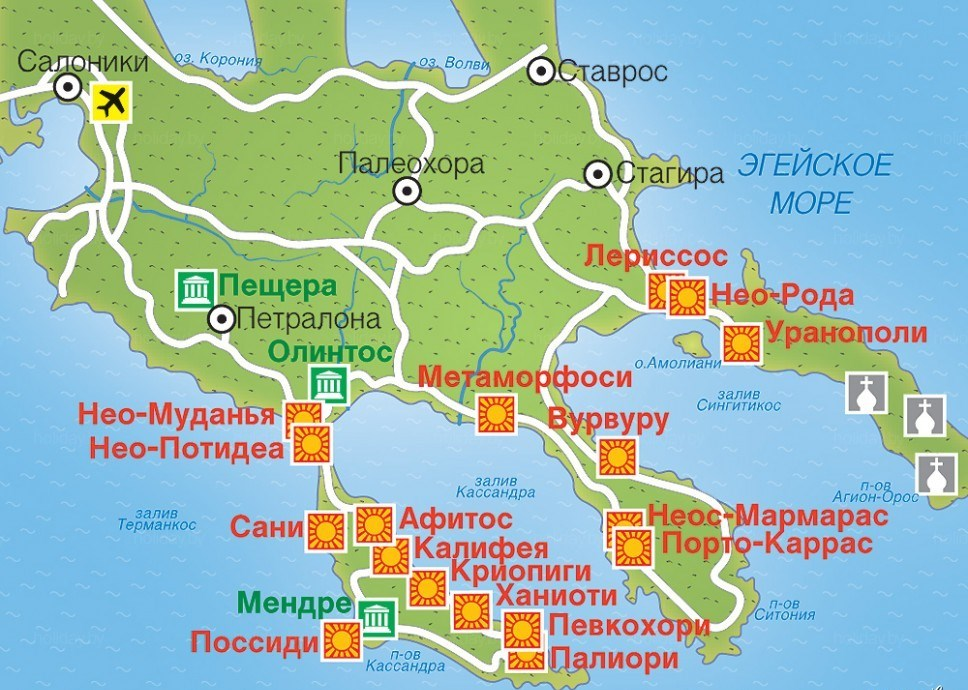 Halkidiki Map Related Keywords & Suggestions - Halkidiki ...