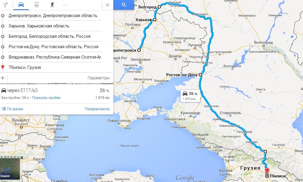 Карта проезда в туре