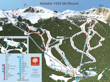 Схема курорта Колашин